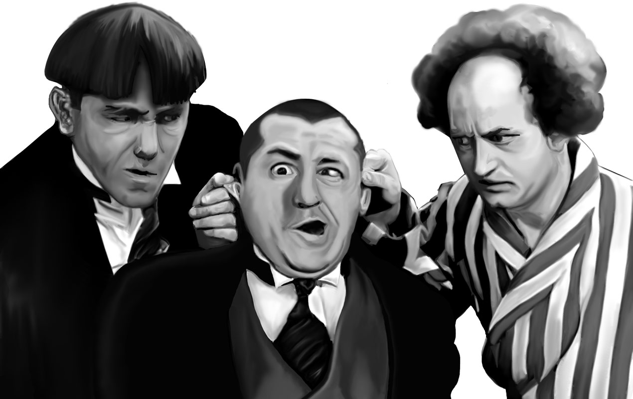 the three stooges drawing