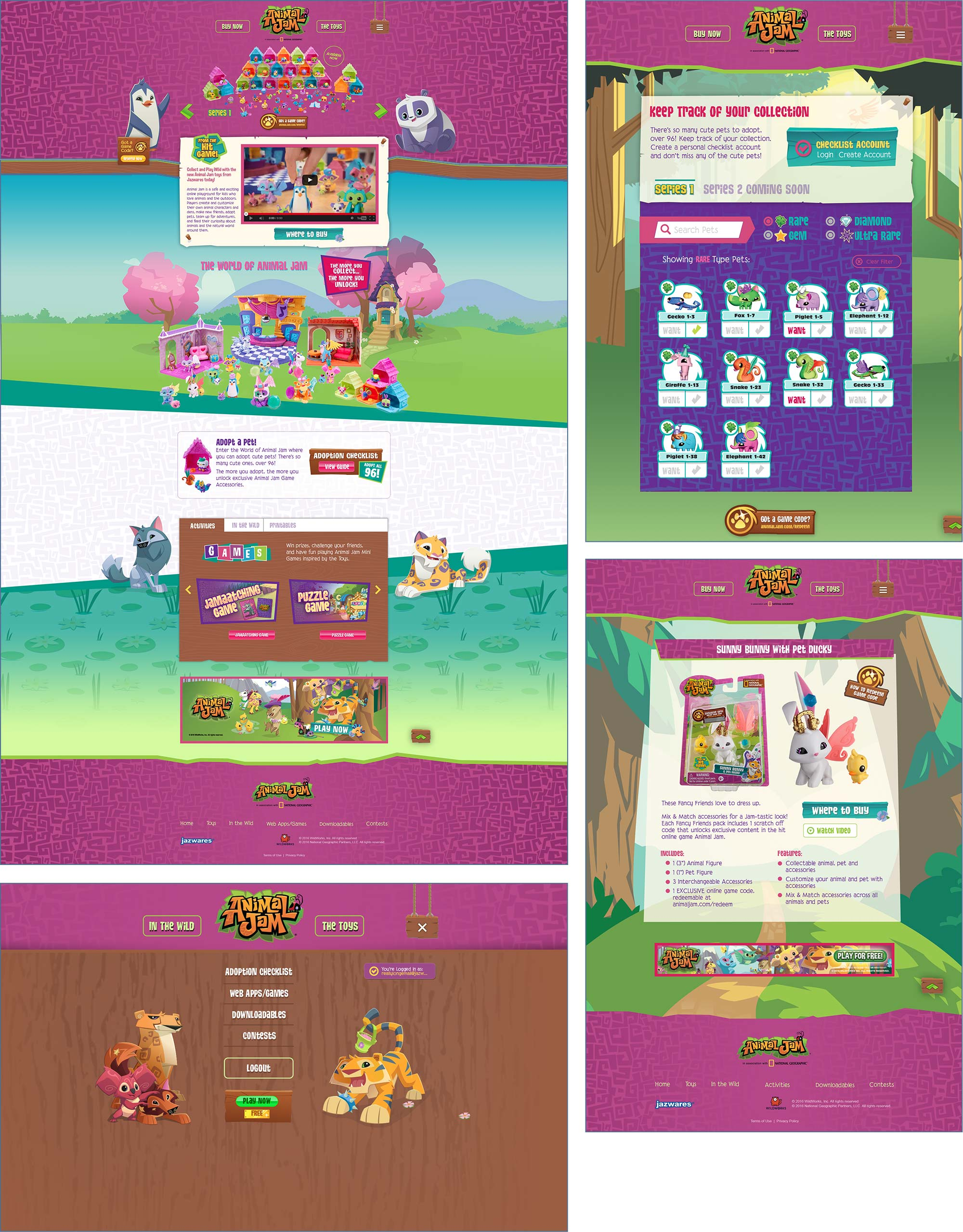 Animal Jam website design