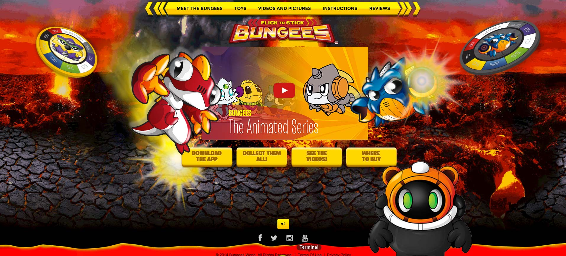 Bungees Home page