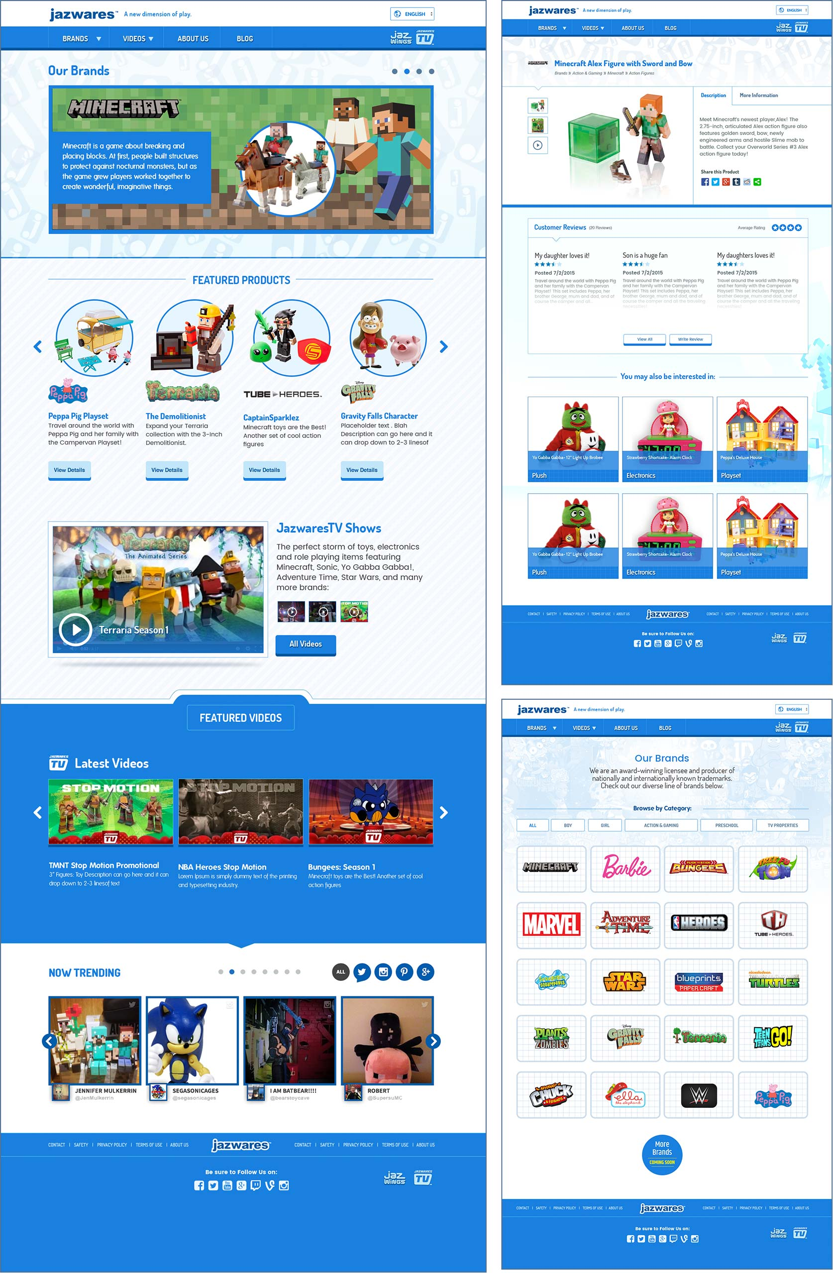 Jazwares website design