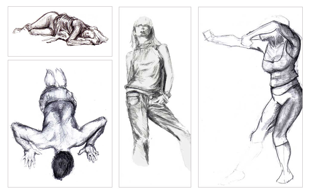 various life drawing sketches